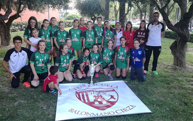chicas-club-escuela-balonmano-cieza-proclaman-subcampeonas-regionales