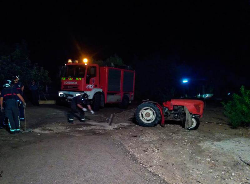 fallece-hombre-volcar-tractor-cieza