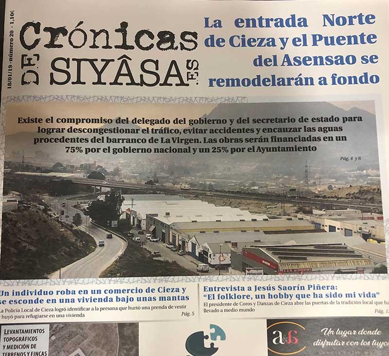 la-remodelacion-de-la-entrada-norte-de-cieza-y-la-entrevista-a-jesus-saorin-en-cronicas-de-siyasa