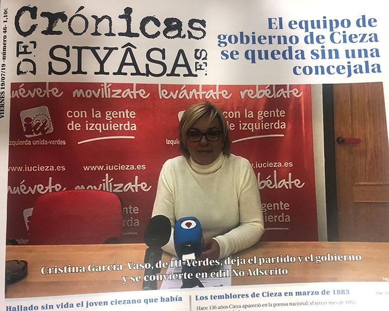 la-dimision-de-la-concejala-cristina-garcia-vaso-y-toda-la-actualidad-en-cronicas-de-siyasa