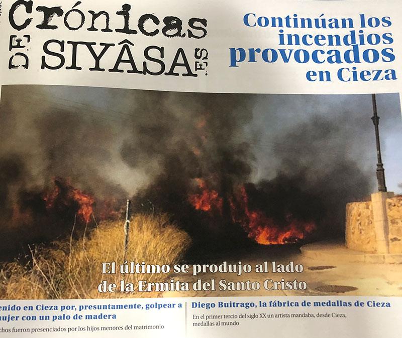 los-incendios-en-cieza-y-el-fabricante-de-medallas-de-la-localidad-en-cronicas-de-siyasa