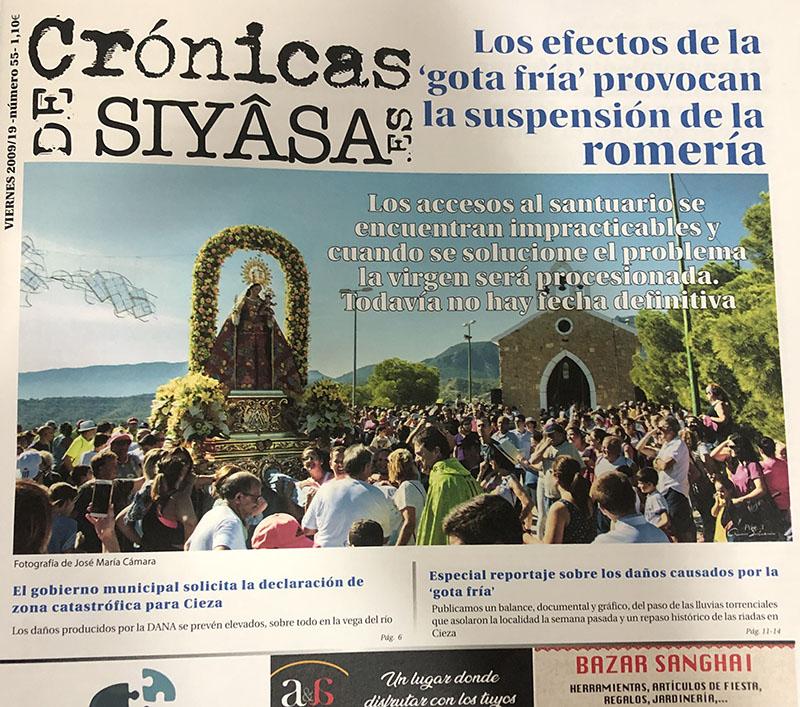 la-suspension-de-la-romeria-y-un-reportaje-especial-sobre-la-gota-fria-en-cronicas-de-siyasa