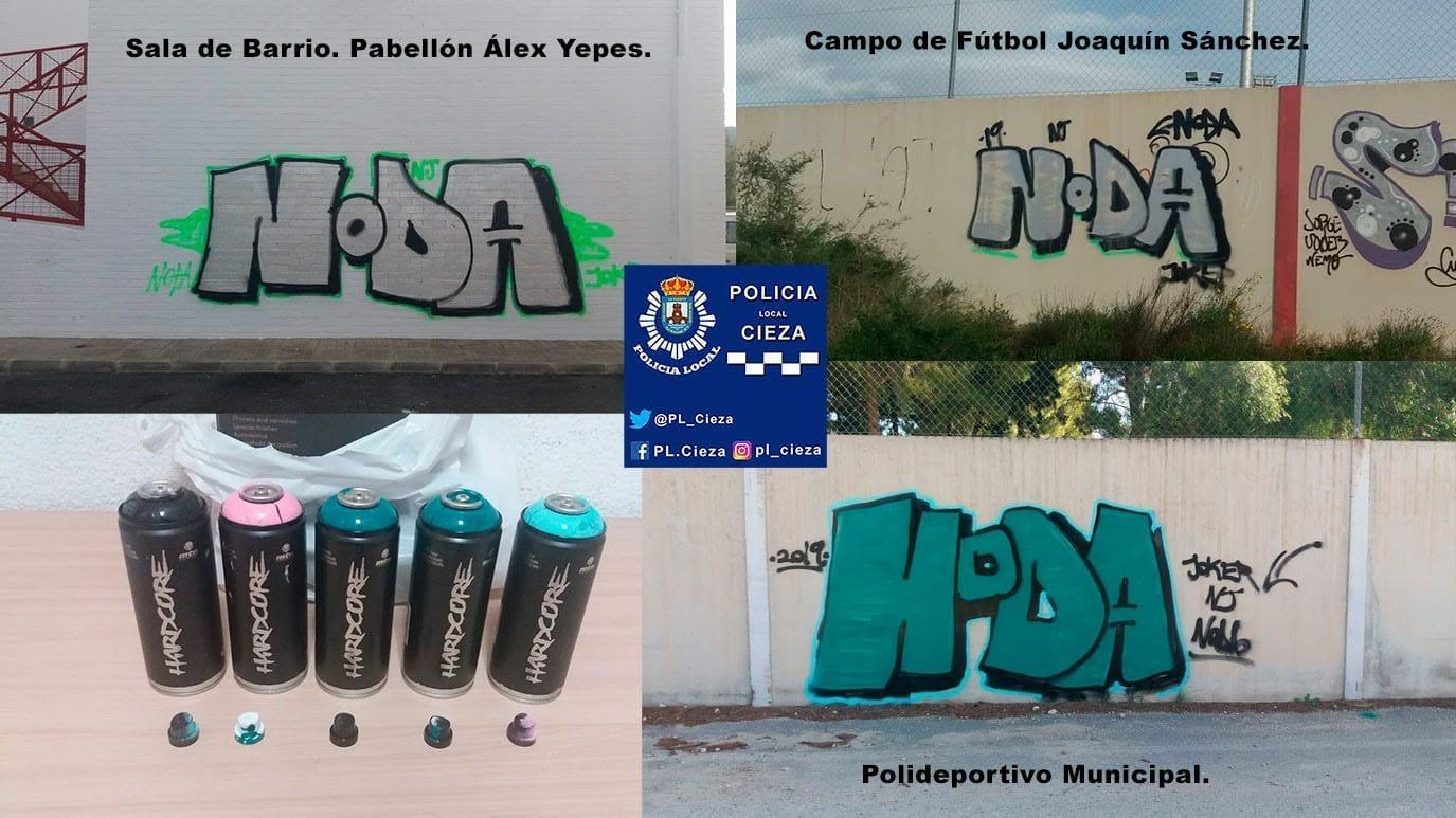atrapan-a-los-grafiteros-que-pintaron-en-la-fachada-de-varias-instalaciones-municipales-en-cieza